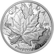 CANADA 2013 - $5.00 Silver High Relief Piedfort Anniversary Maple Leaf Coin
