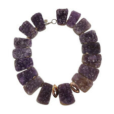 Fabulous Large Natural Amethyst Druze Quartz Necklace