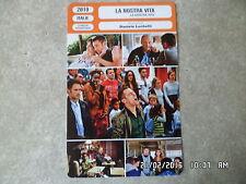 CARTE FICHE CINEMA 2010 LA NOSTRA VITA Elio Germano Raoul Bova Isabella Ragonese
