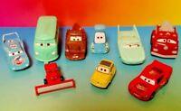 DISNEY PIXAR CARS Plastic LOT OF 9 Different VEHICLES Mater Lightning Mcqueen #5