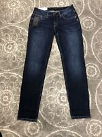 NWT Silver Jeans Co. Boyfriend Women's Sz 28x29 Slim Leg Mid Rise Indigo