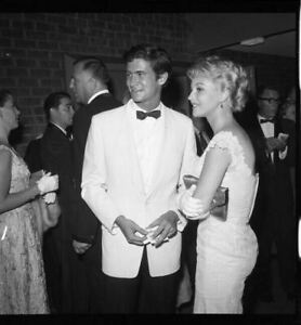 Anthony Perkins Venetia Stevenson at party Original 2.25 x 2.25 Camera Negative