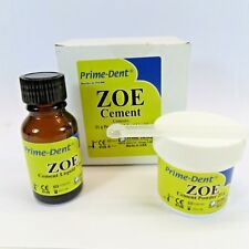 Dental Z.O.E Cement Zinc Oxide Eugenol 21 Grs Powder 7.5 ML Liquid Prime Dent