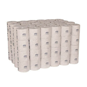 Tork TM1616 Universal 2 Ply 500 Sheet Bath Tissue Toilet Paper Rolls (96 Rolls)