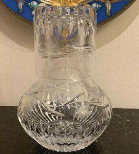 Rogaska Miller Ivy Crystal Carafe Decanter and Tumbler Glass