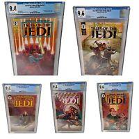 STAR WAR TALES OF THE JEDI #1-5 Complete Set. Dark Horse 1993 CGC Graded 9.4-9.6