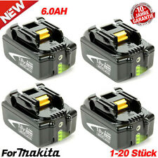 BL1860 6AH 18V OriginalAkku für Makita BL1830 BL1840 BL1860 194204-5 Led Anzeige