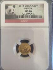 2012 China -G20Y- Gold Coin - Panda - NGC- MS 70