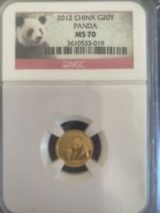 2012 China -G20Y- Gold Coin - Panda - NGC- MS 70