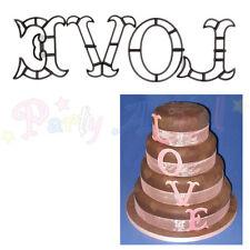Sugarcraft Patchwork cutters- LOVE - Cake decoration sugarpaste cutters wedding