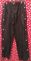 VTG Nike Swoosh Black And White Snap up Tear Away Basketball Athletic Pants XL