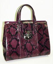 GUCCI Lady Lock Wine Python Medium Tote Bag Handbag NWT