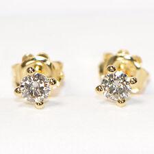 Diamant Ohrstecker in 750er Gelbgold (18 Karat) 0,56 ct 4er Krappenfassung