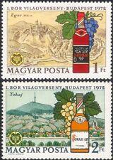 Hungary 1972 Wine Making/Alcohol/Drink/Grapes/Plants/Bottles 2v set (n45470)