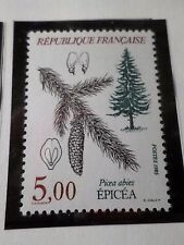 FRANCE 1985, timbre 2387, FLORE ARBRE, TREE, PICEA ABIES, neuf** VF MNH STAMP