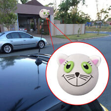 1 Piece Cute White Cat Car Antenna Ball Car Aerial Topper Decor Universal Lovely