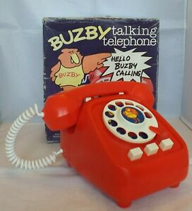 Vintage 1970's BUZBY Talking Telephone PALITOY Boxed VG Condition  RARE HTF