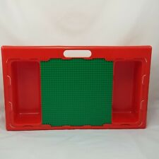 Lego Lap Activity Play Table Sliding Baseplate Vintage Storage Red