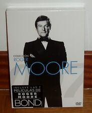 JAMES BOND 007-COLECCION ROGER MOORE-7 DVD-NUEVO-PRECINTADO-ACCION-NEW-SEALED