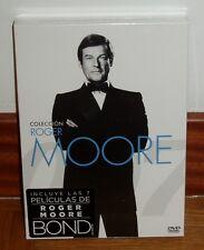 JAMES BOND 007-COLECCION ROGER MOORE-7 DVD-NUEVO-PRECINTADO-ACCION-NEW-SEALED