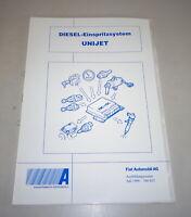Schulungsunterlage Fiat Diesel Einspritzsystem Unijet By 07/1998
