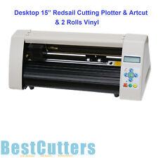 """Starter Kit 15"""" Desktop Cutting Plotter Vinyl Cutter & Artcut & 2 Vinyl Rolls"""