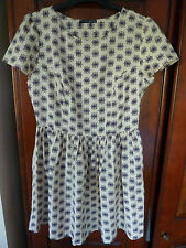 Cream short dress, short sleeved. Size 16