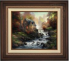 "Thomas Kinkade COBBLESTONE MILL  20"" x 24"" LE G/P Canvas (Walnutl Frame)"