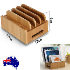 Bamboo Charging Dock Station Charger Holder Stand For Smartphone ipad AU