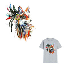 1pc fox Iron on Stickers Washable Heat Transfer Patches For T-shirt AppliquePICT