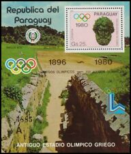 OLYMPIC GAMES-1980-PARAGUAY-SOUVENIR SHEET-MNH-
