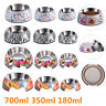 Pet Dog Cat Puppy Food Water Bowl with Removable Melamine Stainless Steel Bowl