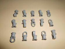Lego (4273a) 15 Kreuz/Pin Verbinder (gezahnt),in alt hellgrau aus 8855 5580 8830
