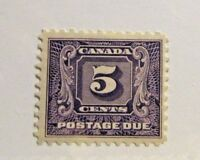 CANADA BOB #J9 * MH, Fine, 1930-32 , 5 Cent Postage Due stamp