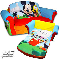 Mickey Mouse Flip Open Sofa Convertable Couch Lounger Toddler Children Kids New