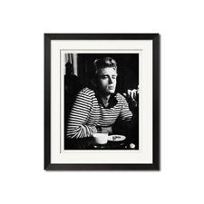 James Dean Coco Chanel Iconic Breton Stripe B&W Poster Print