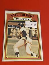 1972 Topps Baseball Cards SEMI-HIGH NUMBER #572 NATE COLBERT PIRATES IN ACTION