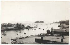 Real Photo Postcard Inner Harbor & Curtis Island in Camden, Maine~106864