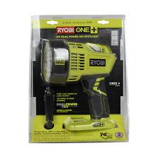 Ryobi P717 18V ONE+ Li-Ion Hybrid LED Spotlight Flashlight w/ Car Truck Plug
