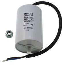 AnlaufKondensator MotorKondensator 30µF 450V 50x78mm Leitung M8 ; Miflex ; 30uF