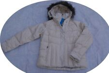 Columbia Luxey Bay Women Down Ski Coat Parka Winter Jacket Off White Small S
