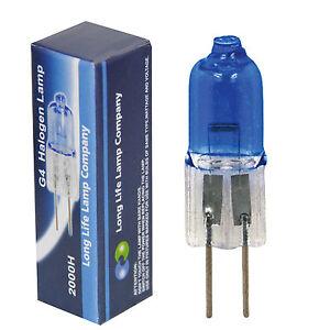 5 x White Light G4 12v Halogen Light Bulb Capsule 5w Blue Bulb G4