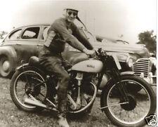 Vintage Norton Motorcycle Racing Champion Old Time Norton Racer Helmet 1940's