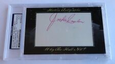 Jocko Conlan 2012 Historic Autograph Why the Hall Not? PSA/DNA HOF Umpire #16/17