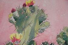 """Vintage Print """"Pereskiopsis"""" By H. Paul 32"""" X 25.5""""Unsigned Modern 70-89 Artwork"""