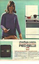 PUBLICITE 1967   PIED/SELLE chauffage cuisinière poele à mazout