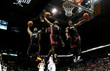 {24 inches X 36 inches} Lebron James, Chris Bosh, and Dwayne Wade Poster