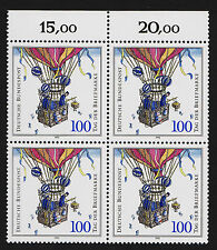 1991 germany Set Sc#1687-90 Mi#1570 Numeral Margin Block of 4  MNH