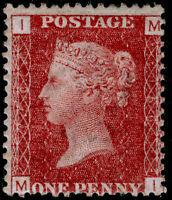 SG43, 1d rose-red PLATE 156, M MINT. Cat £60. MI