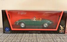 1971 Jaguar E Type Convertible Green 1:18 Diecast Model